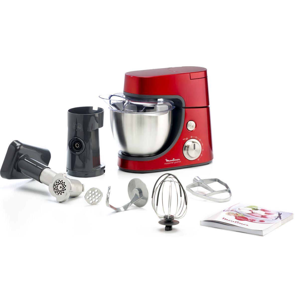 Robot moulinex masterchef gourmet rouge - 2% de remise immédiate avec le code : top2 (photo)