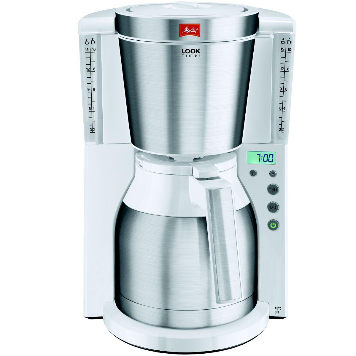 Cafeti�re isotherme melitta look iv therm timer blanc/inox (photo)