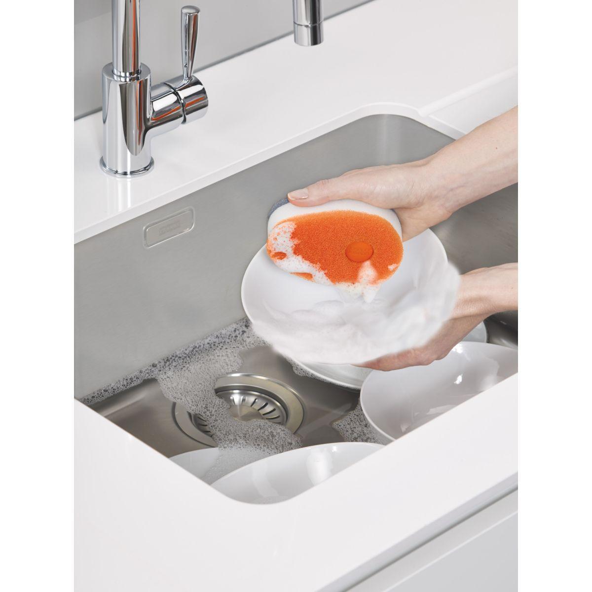 Distributeur � savon joseph joseph soapy sponge - orange - 7% de remise imm�diate avec le code : deal7 (photo)