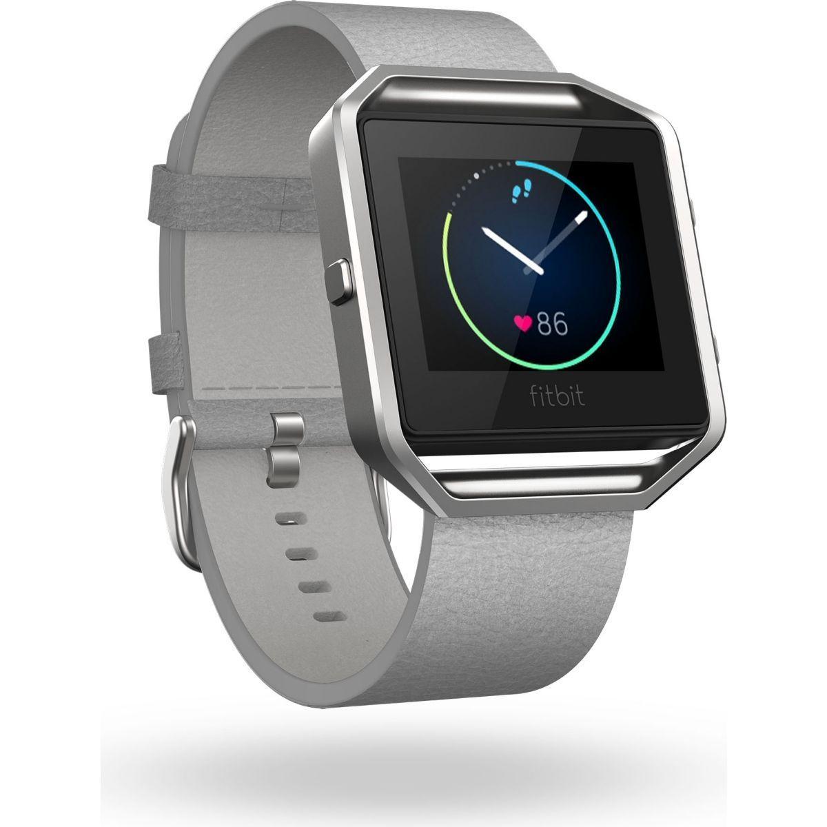 Accessoire fitbit bracelet cuir blaze grey s - 2% de remise imm�diate avec le code : wd2 (photo)