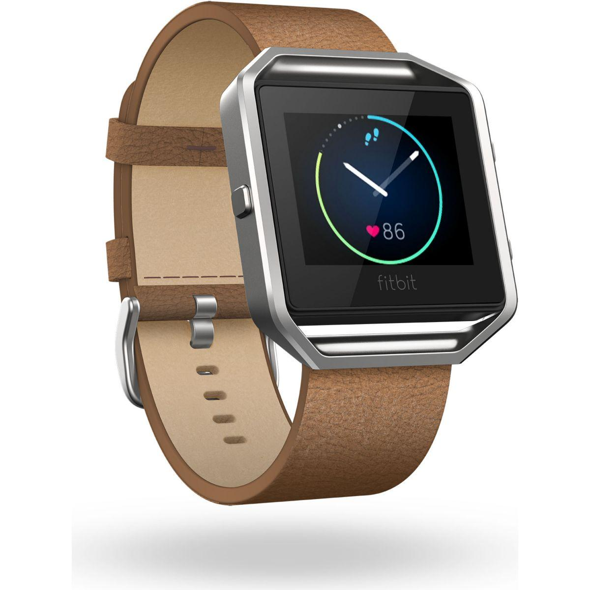 Accessoire fitbit bracelet cuir blaze camel l - 15% de remise immédiate avec le code : top15 (photo)