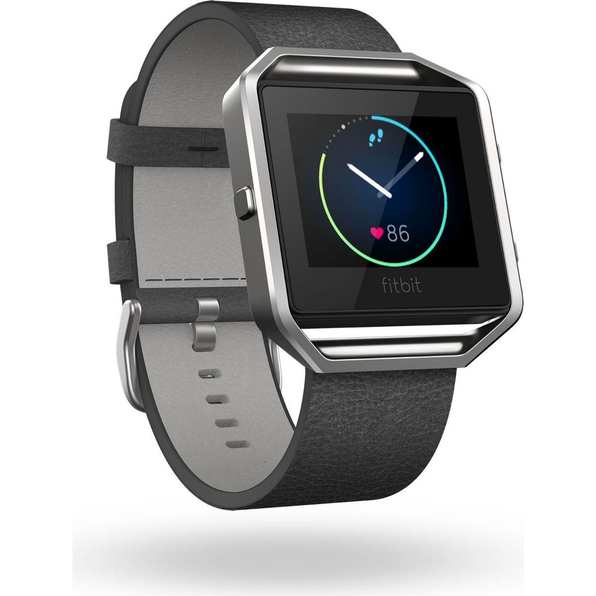 Accessoire fitbit bracelet cuir blaze noir l - 15% de remise immédiate avec le code : top15 (photo)