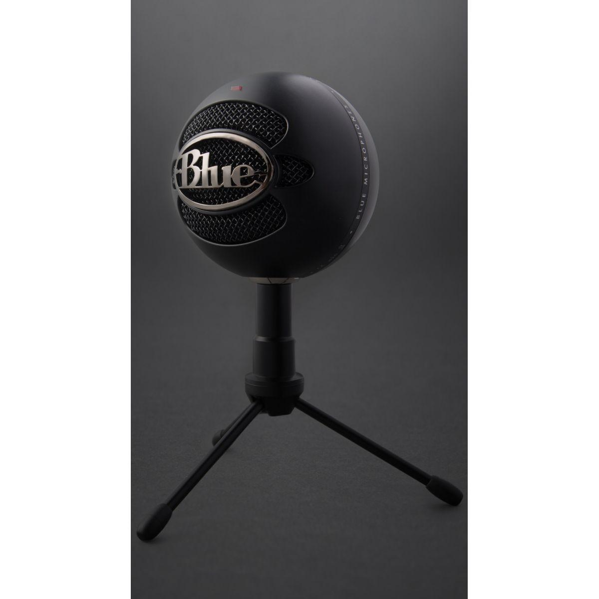 Micro gamer blue microphones snowball ice black - livraison of...