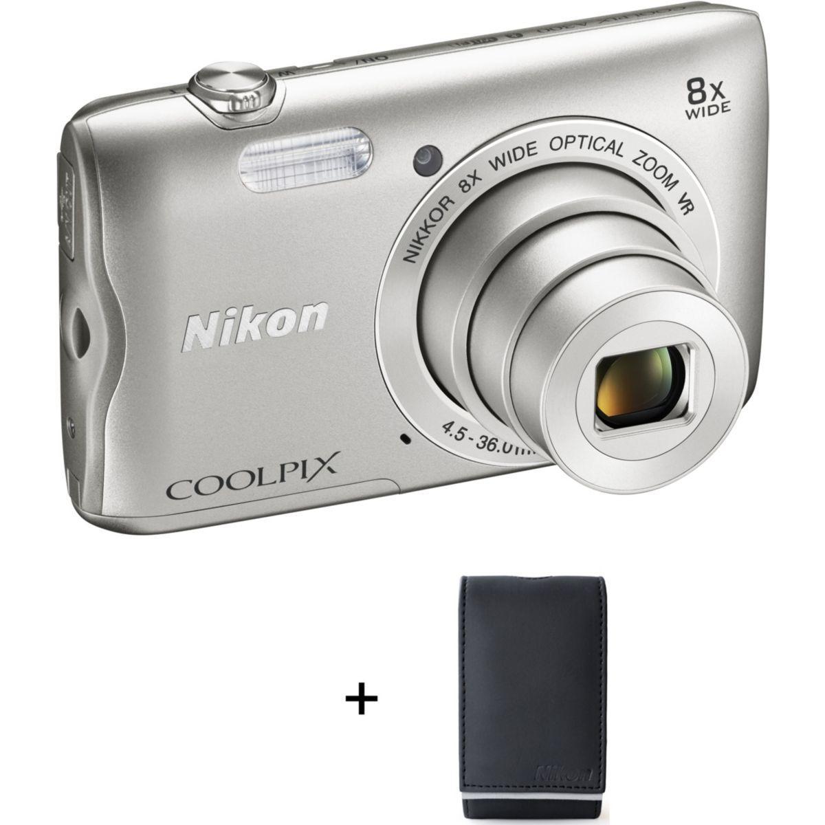 Appareil photo compact nikon a300 silver + etui (photo)