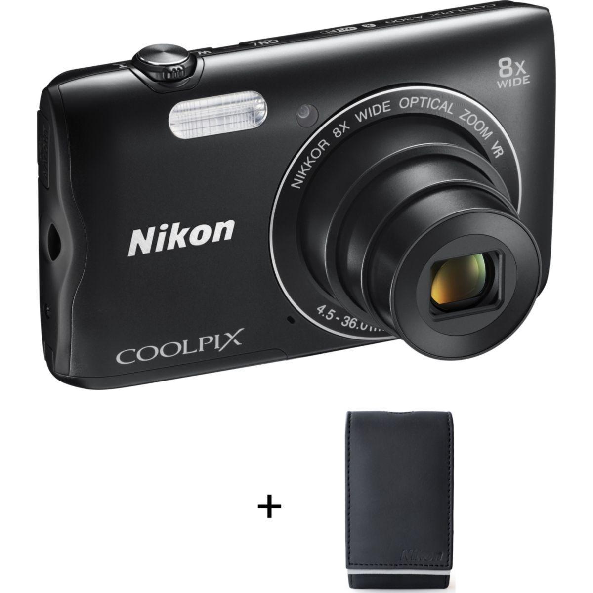 Appareil photo compact nikon a300 noir + etui (photo)