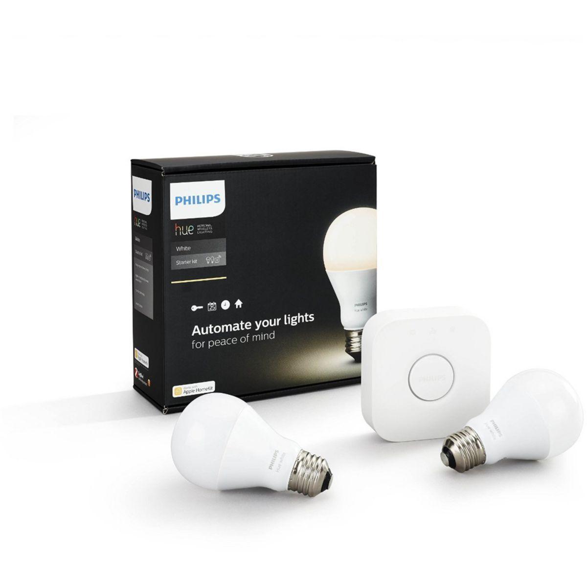 Ampoule philips huewhite 9.5w a60 e27 set eu - 10% de remise immédiate avec le code : multi10