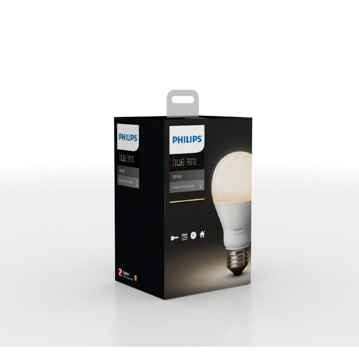 Ampoule connectable philips e27 hue white (photo)