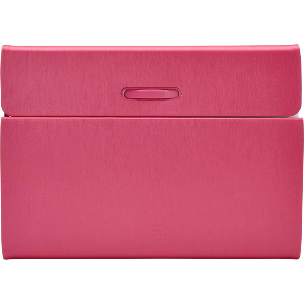Etui tablette caselogic porte-folio rotatif rose ipad air 2 - livraison offerte : code premium (photo)
