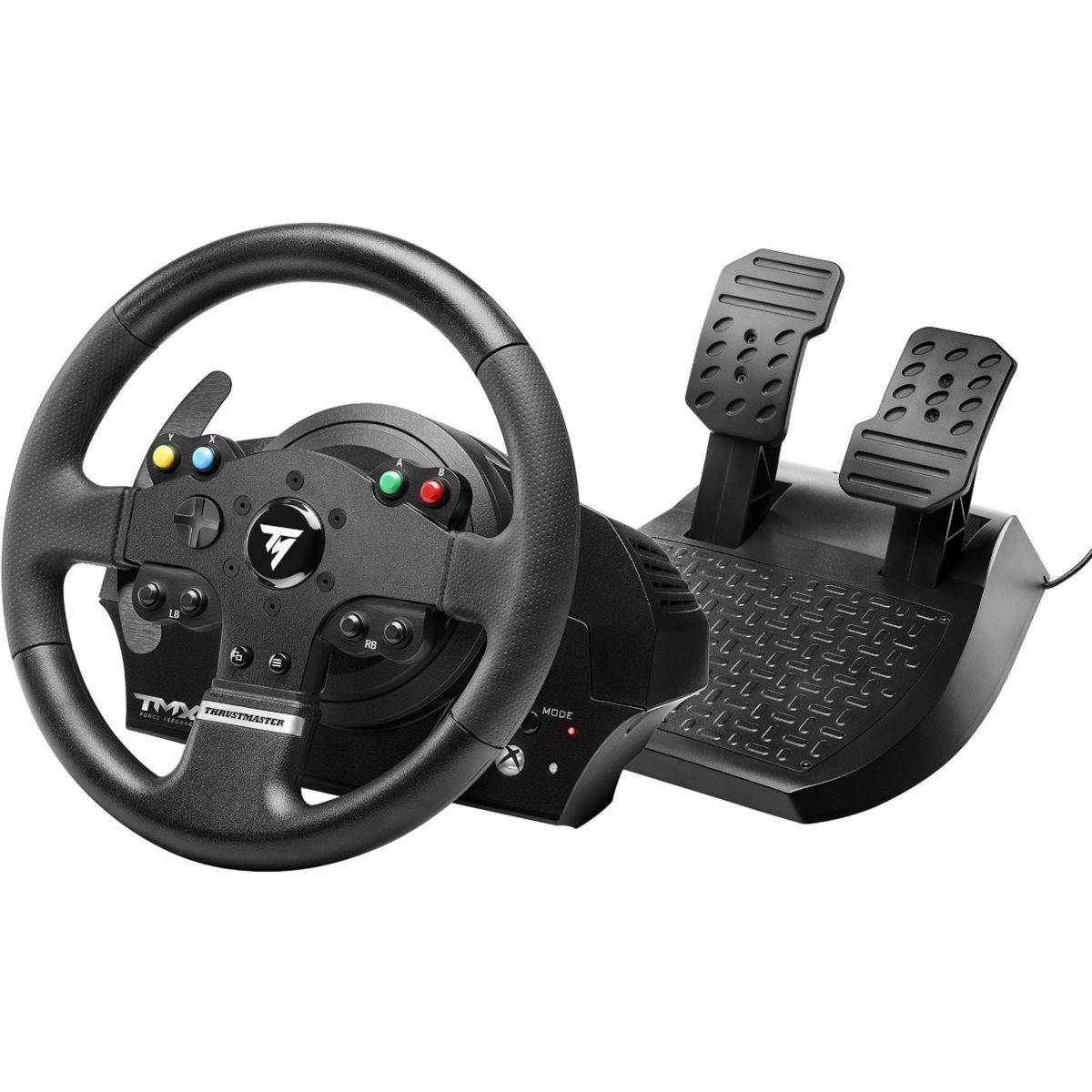 Volant + p�dalier thrustmaster tmx force feedback xbox one/pc