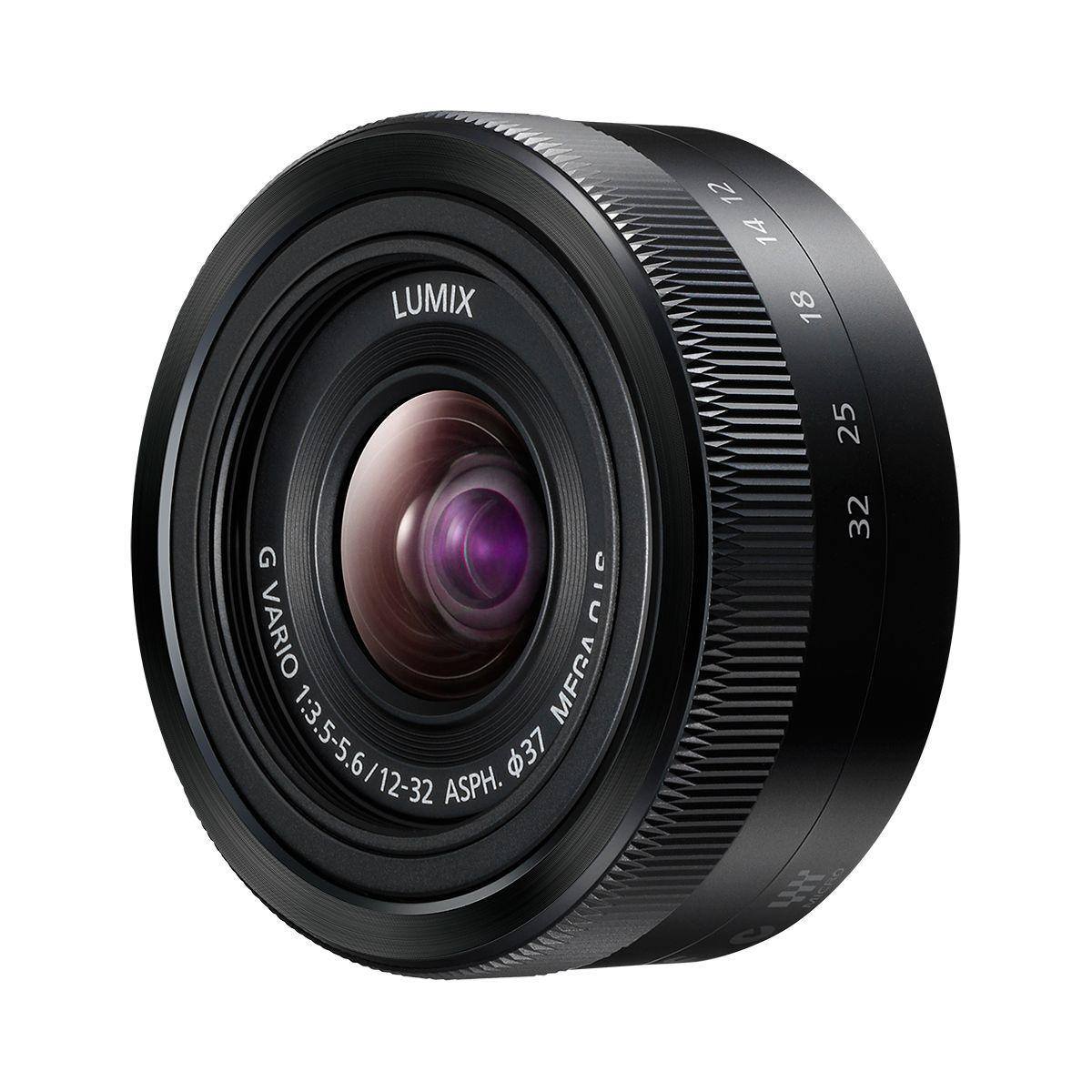 Objectif pour hybride panasonic 12-32mm noir f3.5-5.6 asph