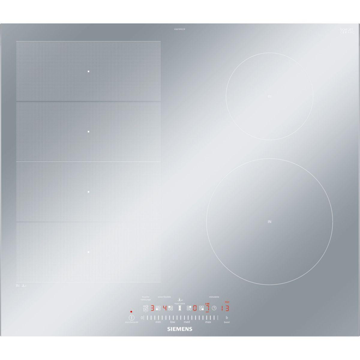 Siemens eh875mp17f table de cuisson vitroc ramique et induction 5 plaques - Plaque induction largeur 70 ...