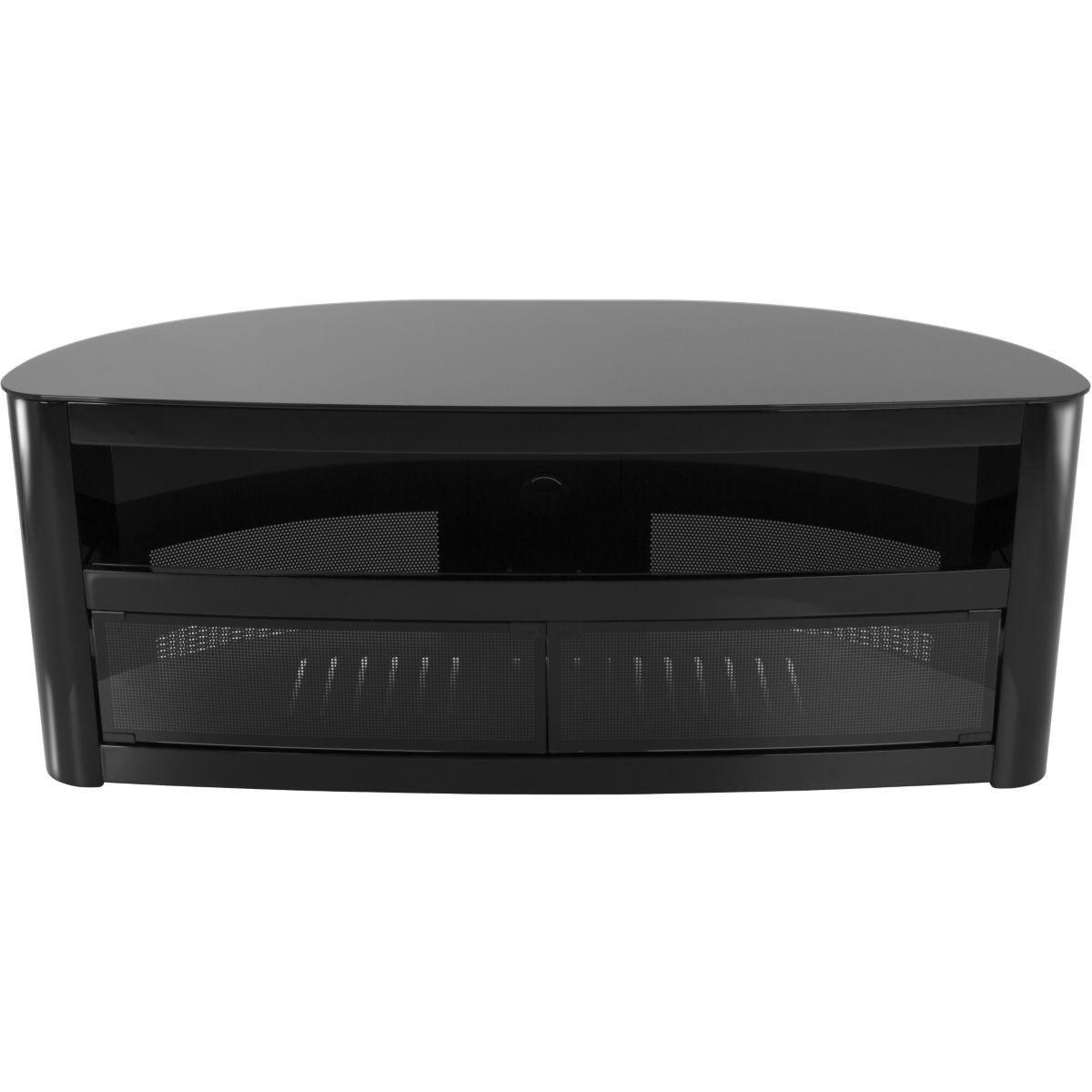 Meuble tv avf burghley plus noir brillant 1,25m - 20% de remise imm�diate avec le code : fete20 (photo)
