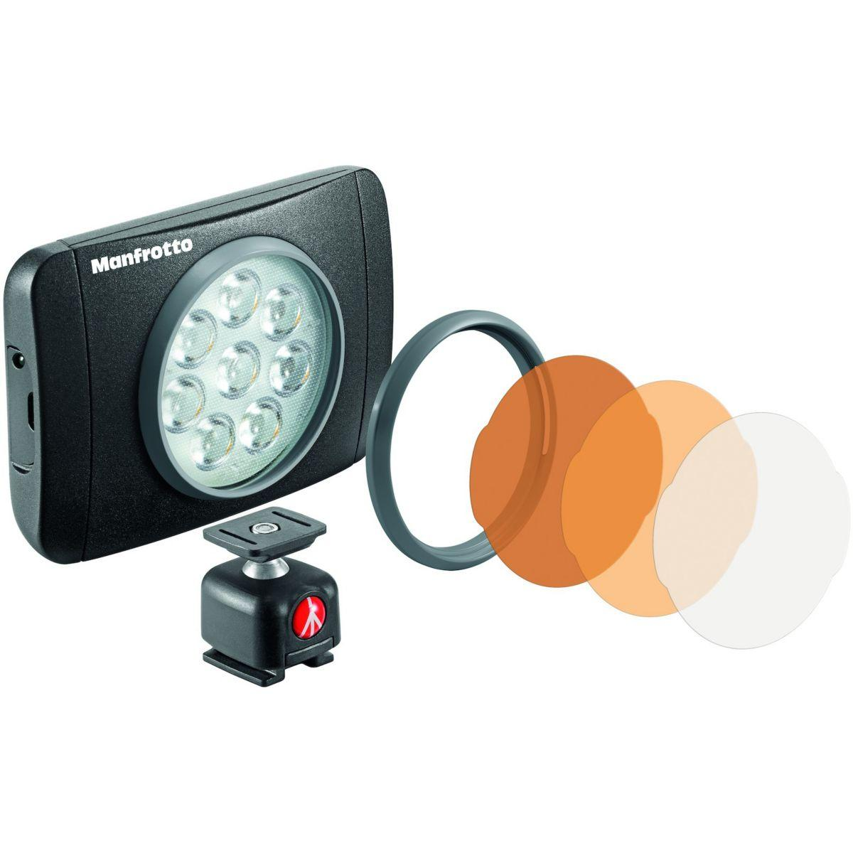 Torche manfrotto 8 led 550 lumens lumie muse + rotule - 2% de ...