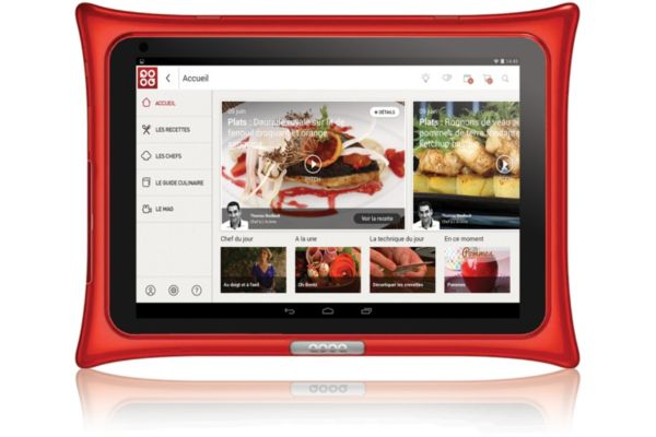 Tablette android qooq v4 rouge (photo)