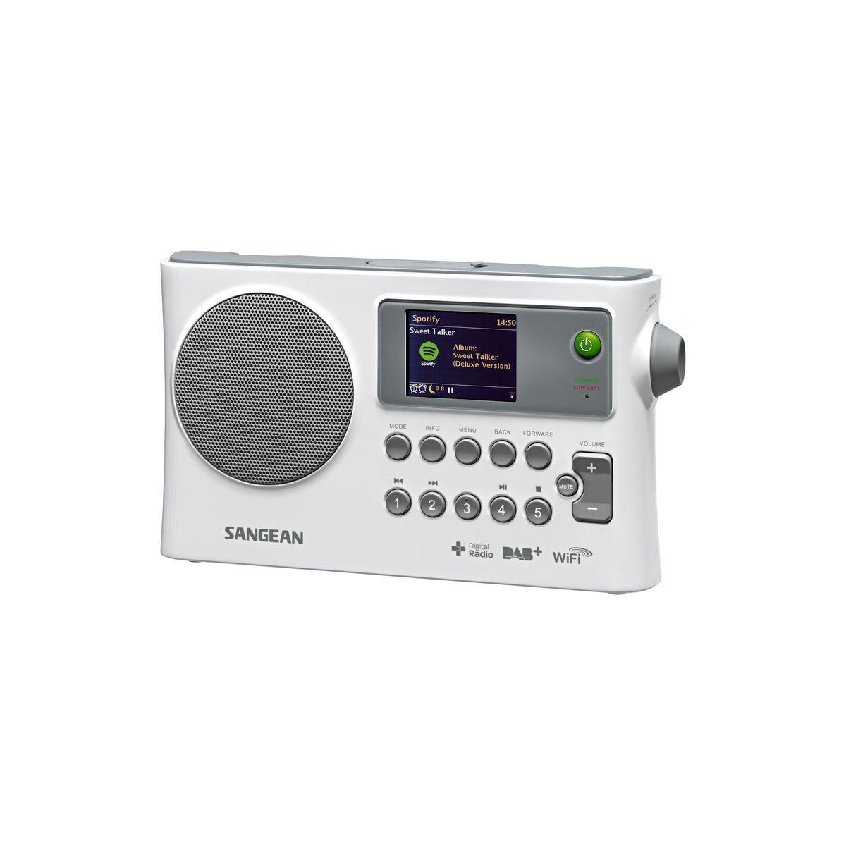 Radio internet sangean fusion 280 blanc - 2% de remise imm?dia...