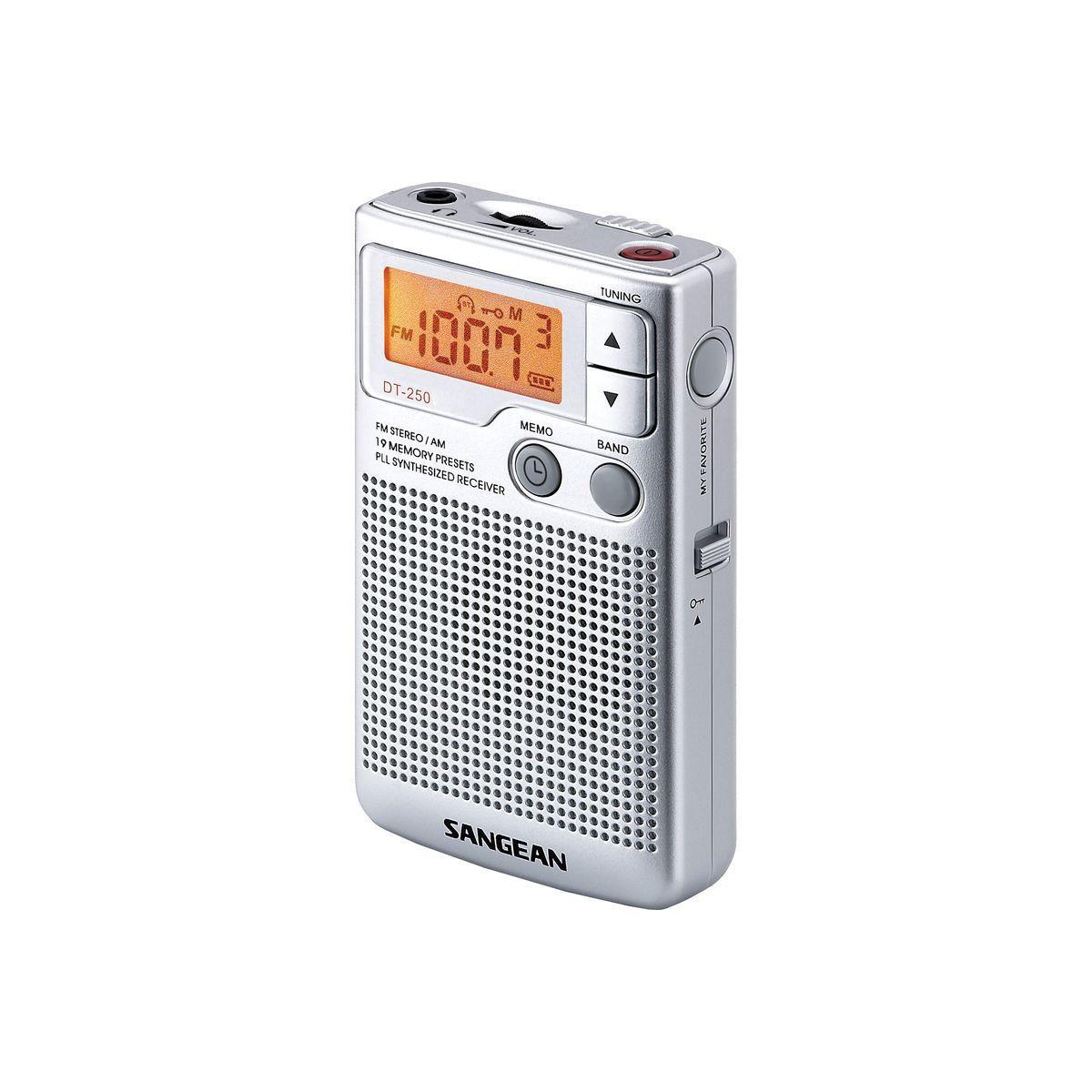 Radio analogique sangean pocket 250 argent - 2% de remise imm?...
