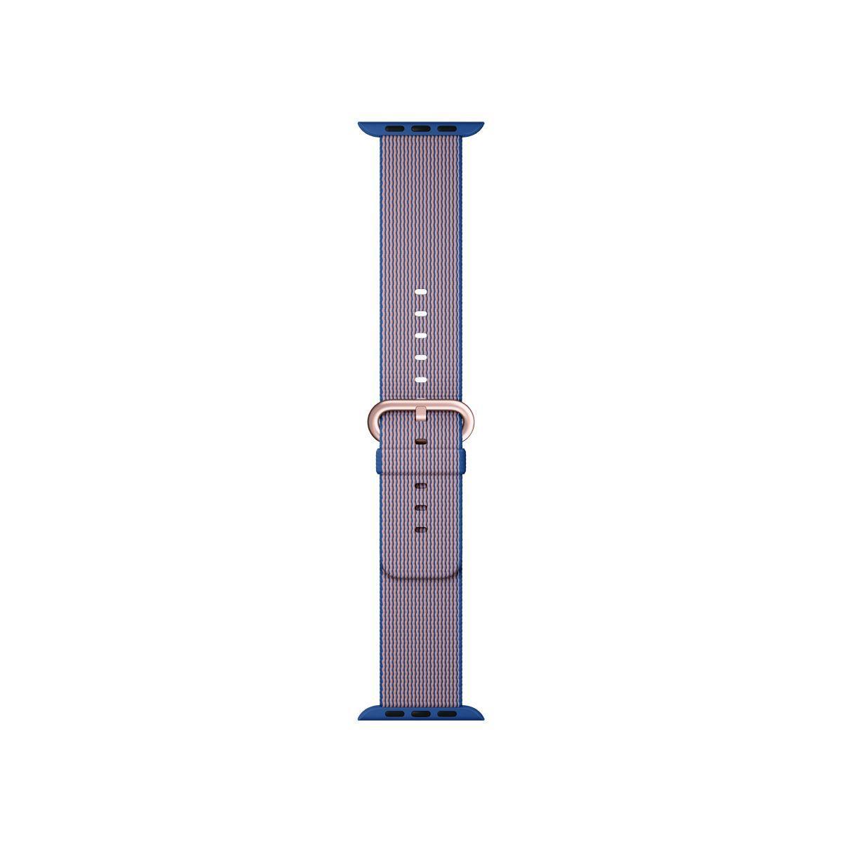 Bracelet apple watch nylon tissé bleu roi 38mm - soldes et bons plans
