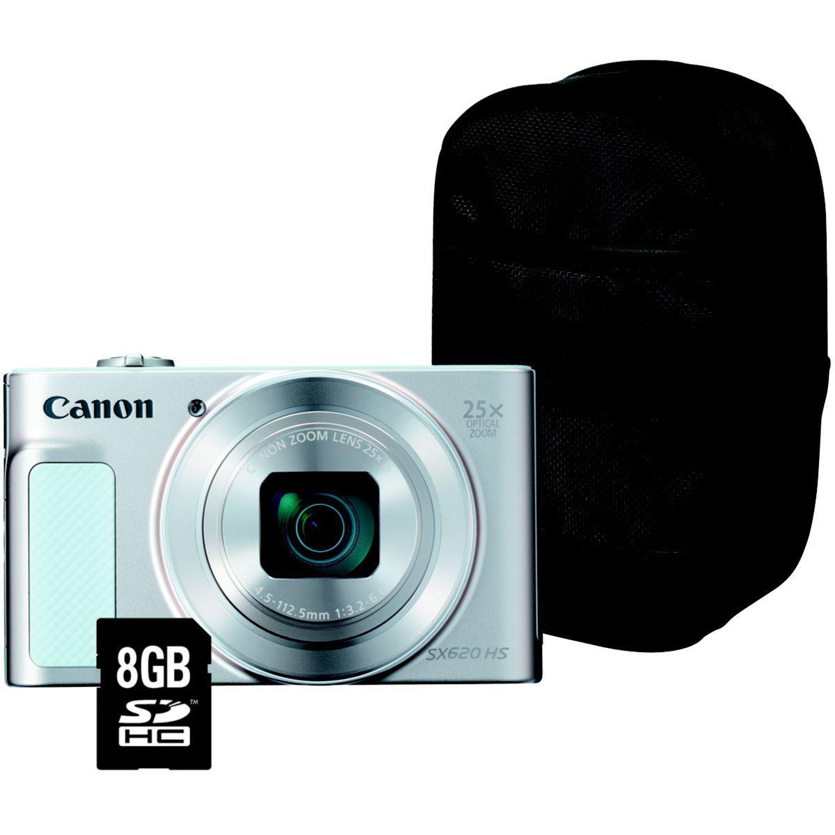 Appareil photo compact canon pack sx620 hs blanc + house + sd 8go - livraison offerte : code livphoto (photo)