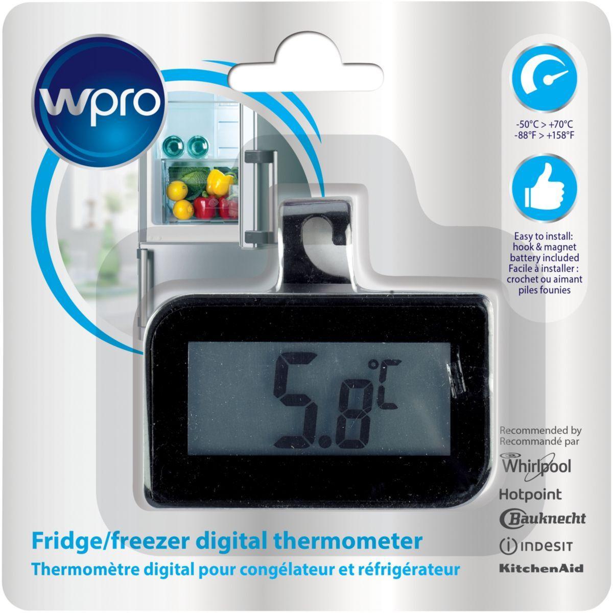 Thermom�tre wpro pour r�frig�rateur bdt102 - livraison offerte : code livr (photo)