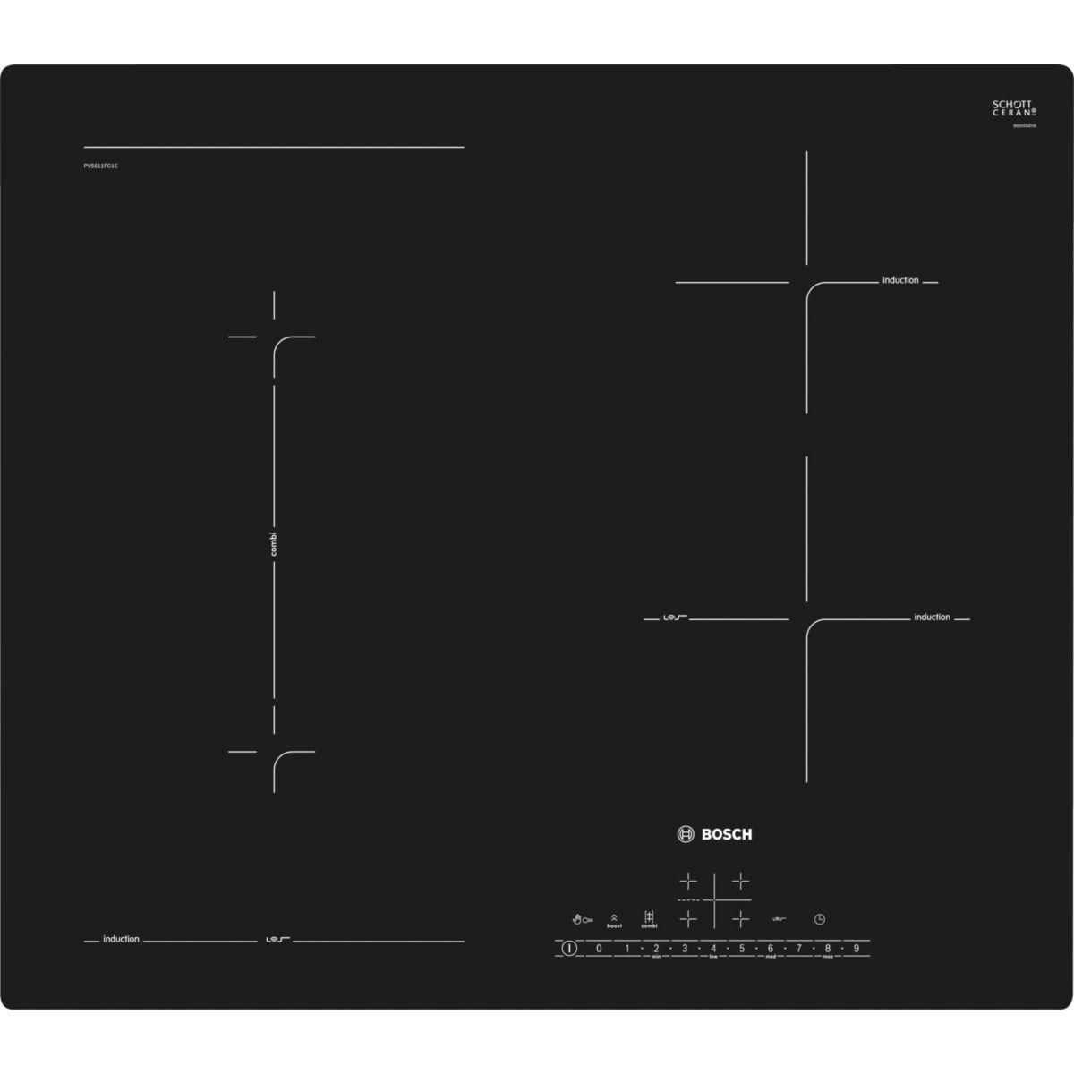 Table induction bosch pvs611fc1e - livraison offerte : code pr...