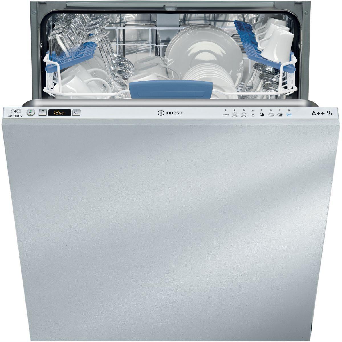 Lave vaisselle tout int?grable indesit difp66b+9 eu - livraiso...
