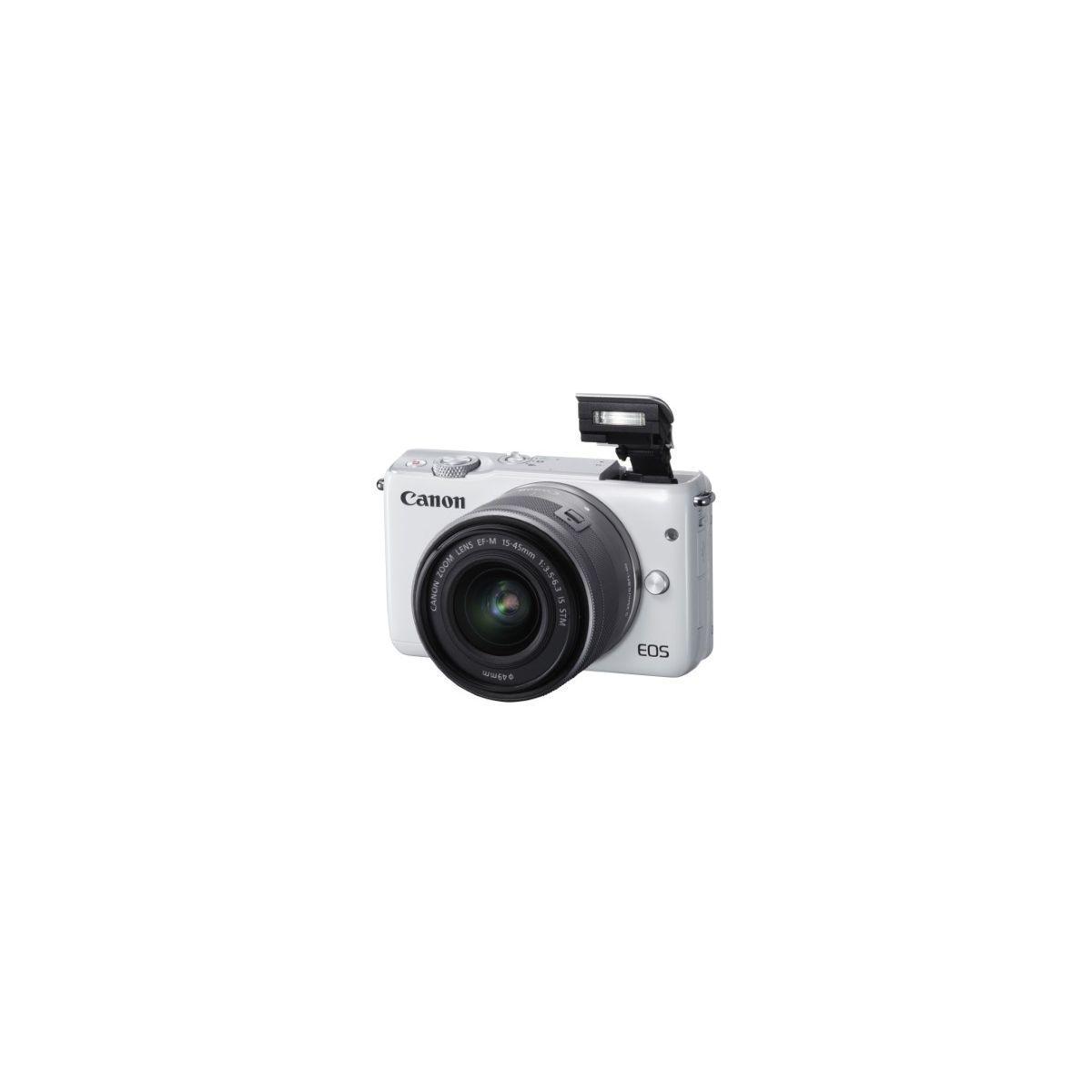 Appareil photo hybride canon eos m10 blanc + ef-m 15-45 argent - coup de coeur de l'équipe (photo)