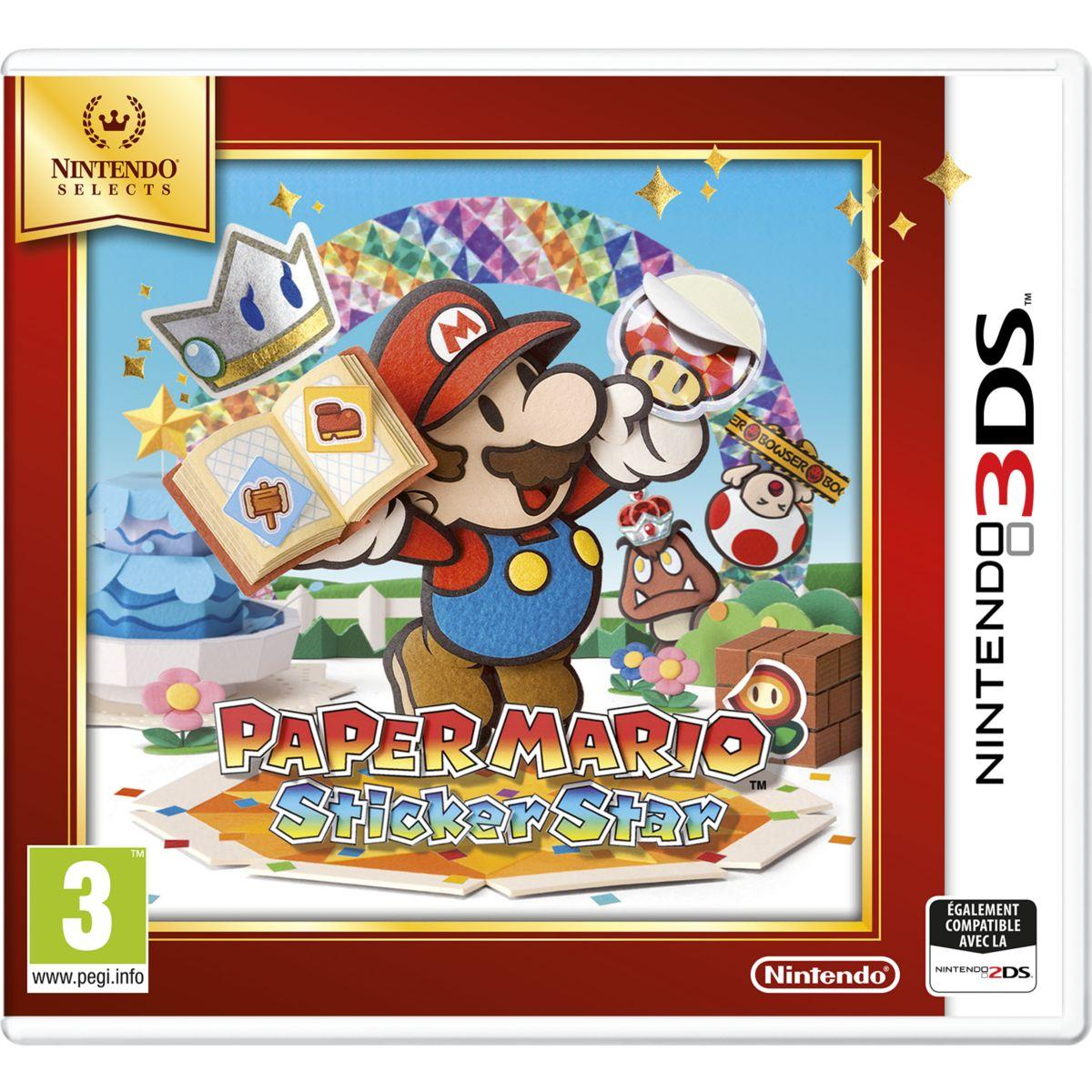 Jeu 3ds nintendo paper mario sticker star selects - 2% de remise immédiate avec le code : cool2 (photo)