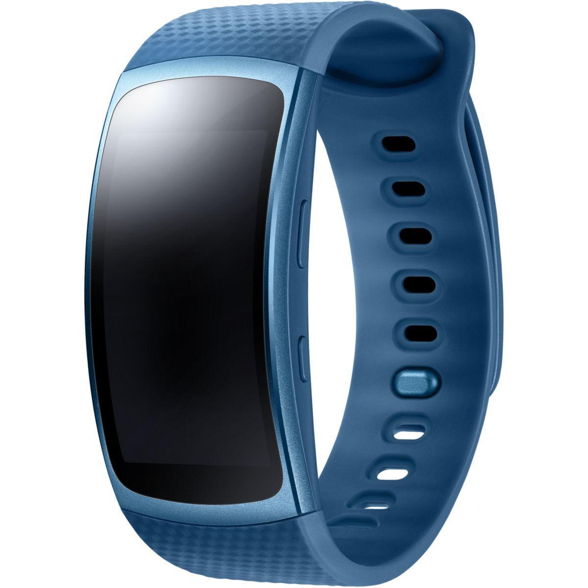 Montre connectée samsung gear fit 2 bleu taille l - 2% de remise immédiate avec le code : top2 (photo)