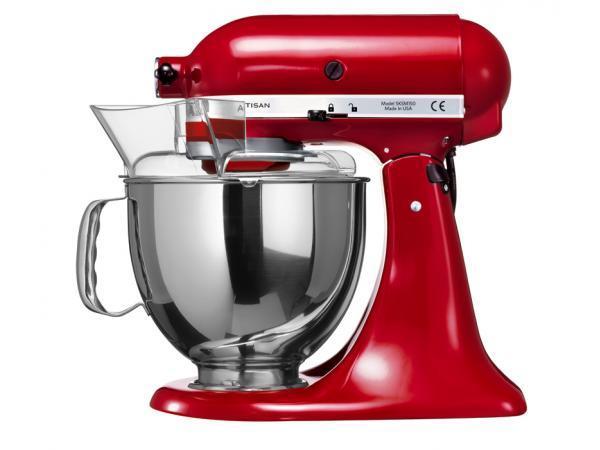 Pack promo robot sur socle artisan kitchenaid rouge empire 5ksm150pseer + accessoire kitchenaid - mvsa tranchoir / râpe à cylindres - produit coup de