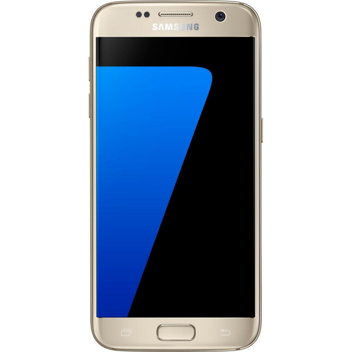 Pack promo smartphone samsung galaxy s7 32 go or + chargeur à induction samsung pad induction design s6-s7 blanc - soldes et bonnes affaires à prix im