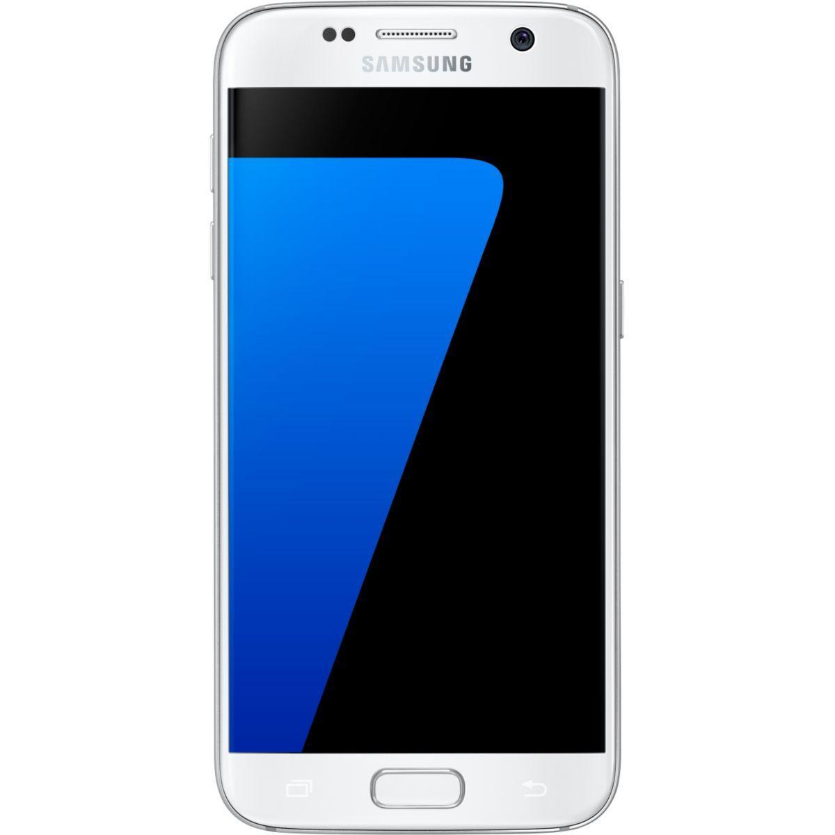 Pack promo smartphone samsung galaxy s7 32go blanc + chargeur à induction samsung pad induction design s6-s7 blanc - soldes et bonnes affaires à prix