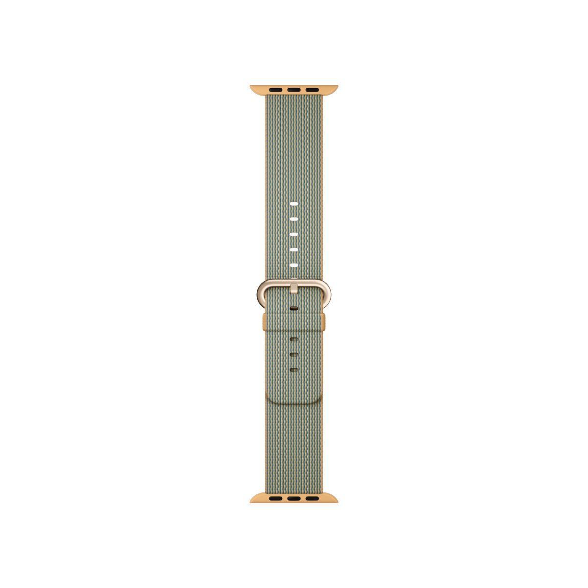 Bracelet apple watch nylon tissé or/bleu roi 42mm - soldes et bons plans