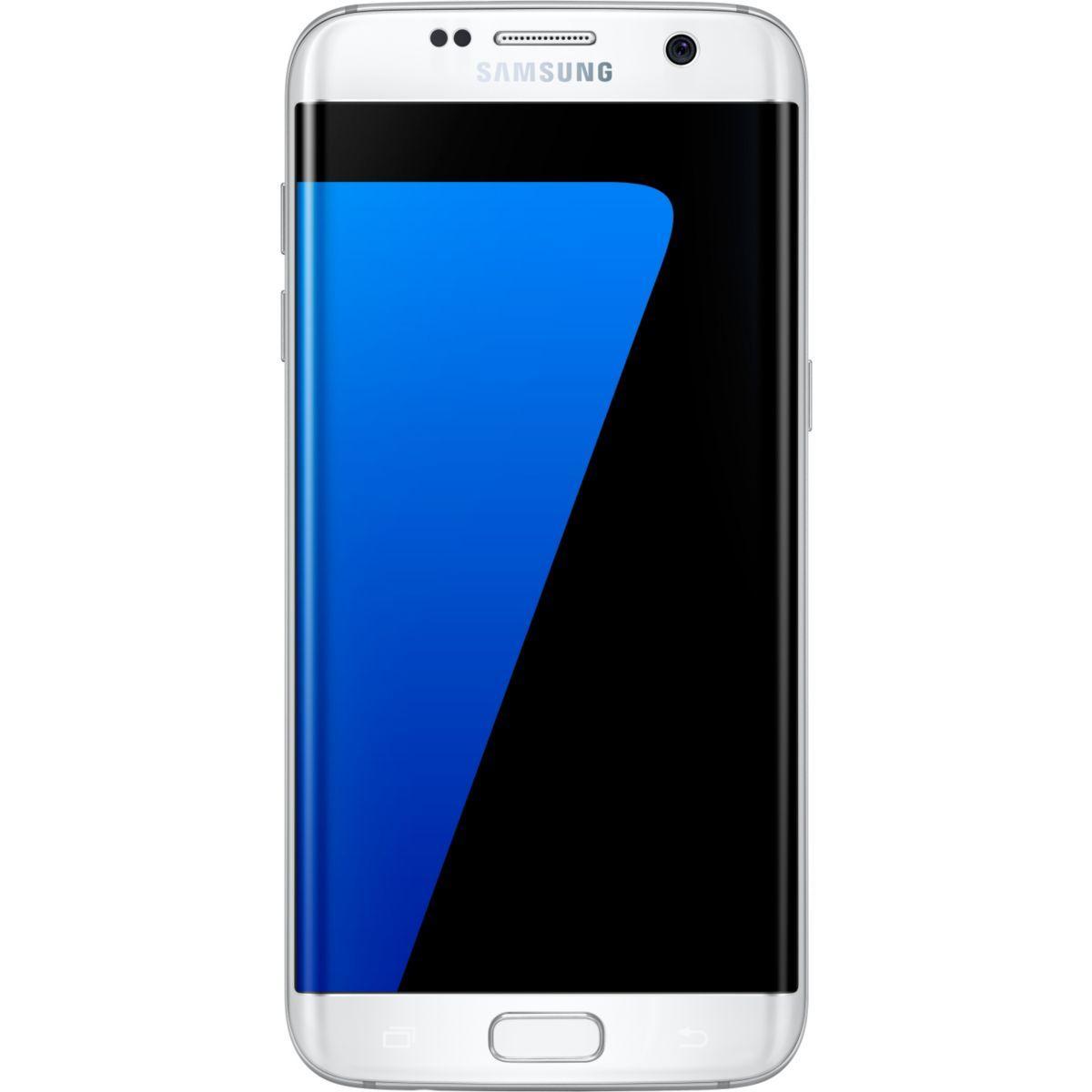 Pack promo smartphone samsung galaxy s7 edge 32go blanc + etui samsung view cover led galaxy s7 edge silver - soldes et bonnes affaires à prix imbatta