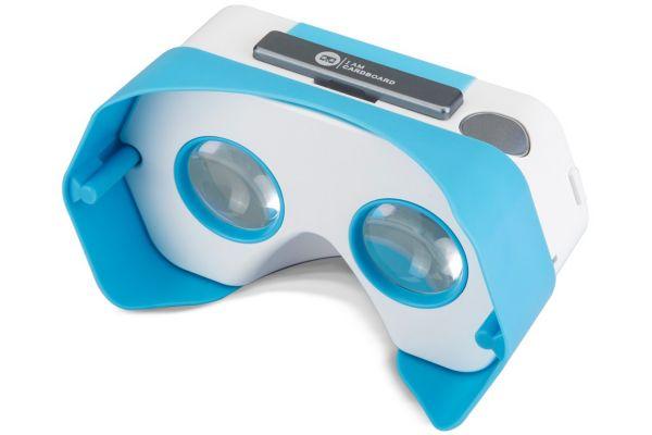 Casque de réalité virtuelle pour smartphone i am cardboard plastic vr bleu - 20% de remise immédiate avec le code : cool20 (photo)