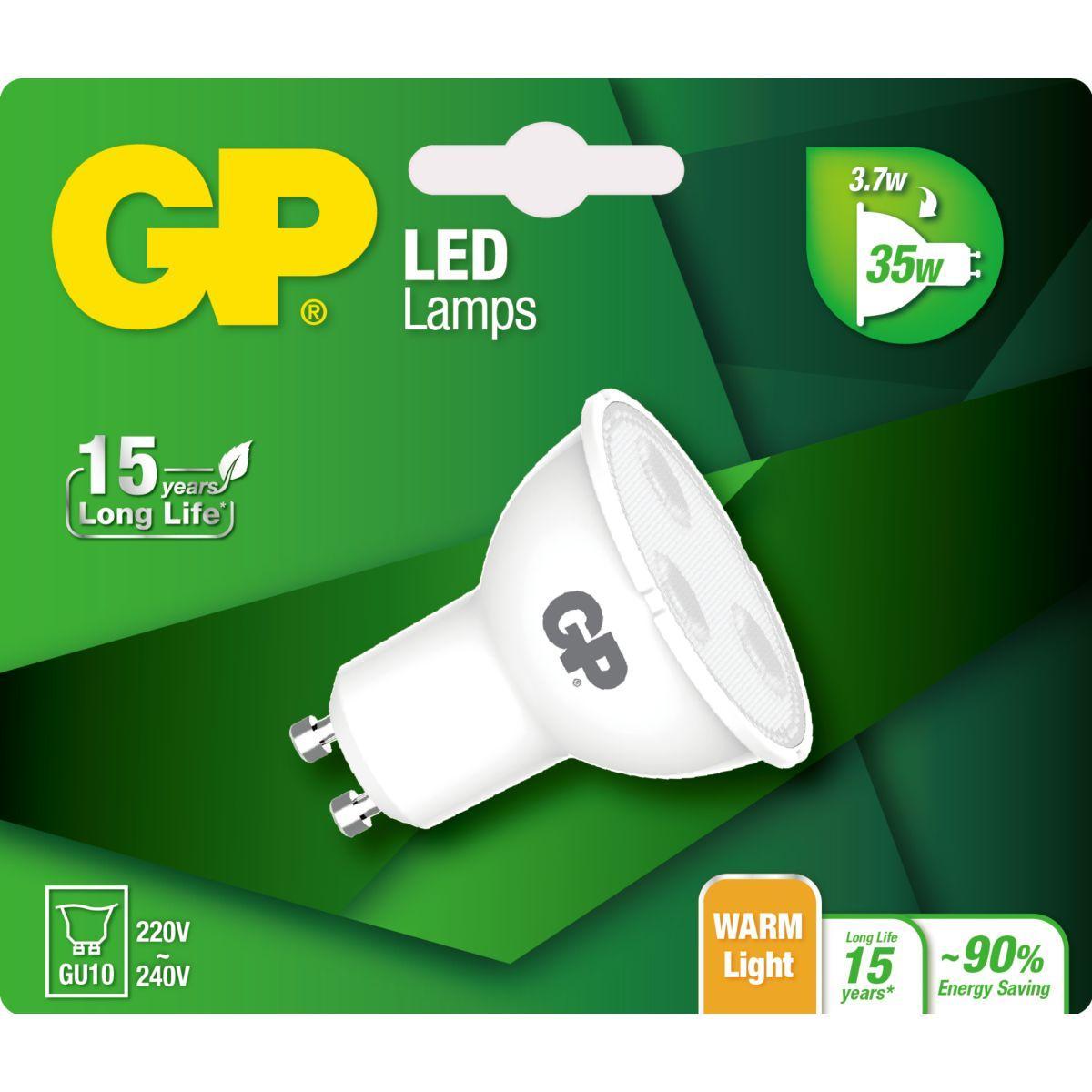 Ampoule gp led twist gu10 3.7-35w - 3% de remise immédiate avec le code : multi3