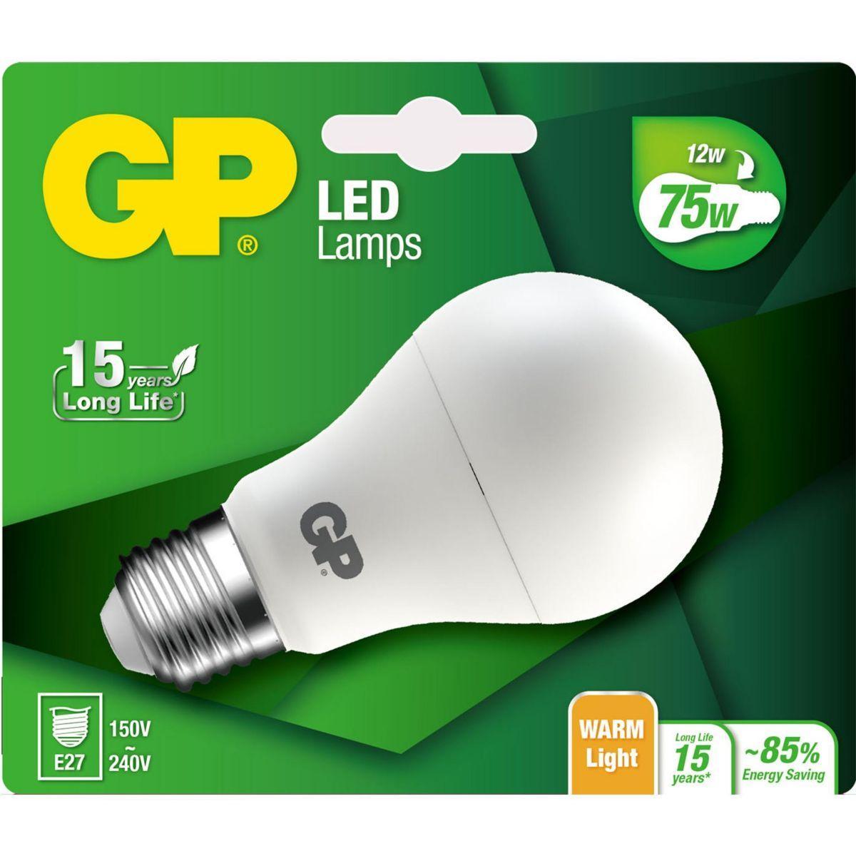 Ampoule gp led classic e27 12w-75w - 3% de remise immédiate avec le code : multi3