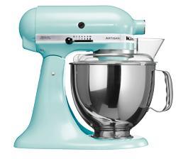 Pack promo robot sur socle kitchenaid artisan® bleu glacier 5ksm150pseic + accessoires robot kitchenaid set fppc (5fga + 5fvsp + 5mvsa) - produit cou