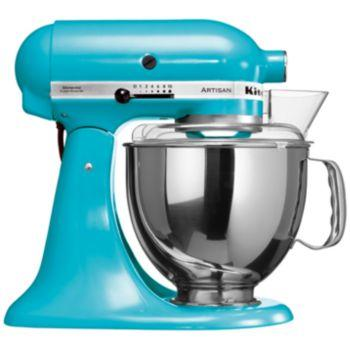 Pack promo robot sur socle artisan kitchenaid bleu lagon 5ksm150psecl + accessoires robot kitchenaid set fppc (5fga + 5fvsp + 5mvsa) - produit coup de