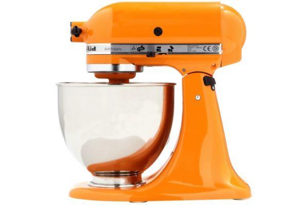 Pack promo robot sur socle artisan kitchenaid tangerine 5ksm150psetg + accessoires robot kitchenaid set fppc (5fga + 5fvsp + 5mvsa) - produit coup de
