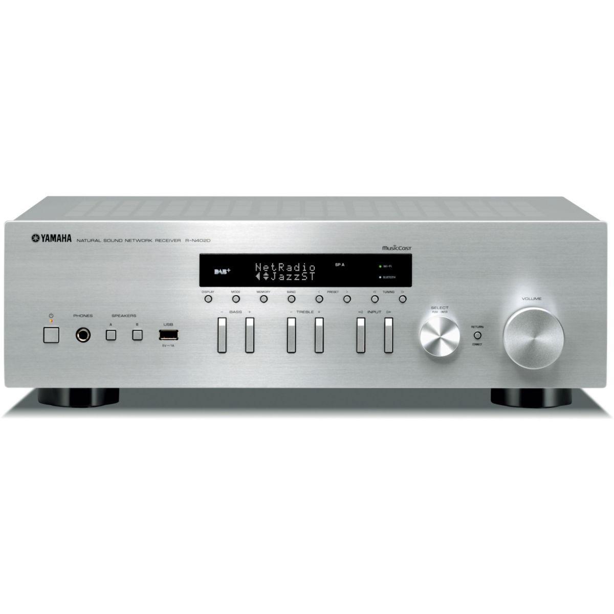 Amplificateur hifi yamaha musiccast rn402 silver - livraison offerte : code livprem (photo)