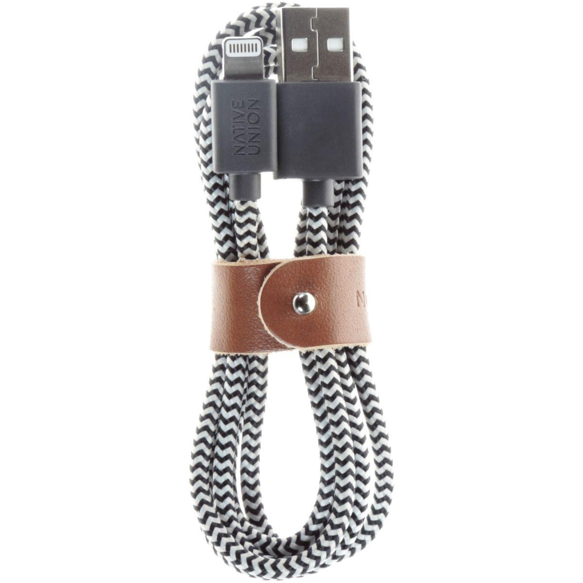 Câble lightning native union belt zebra 1m20 - 3% de remise immédiate avec le code : multi3 (photo)