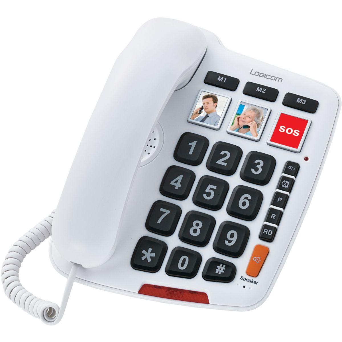 Téléphone logicom serenity 150 blanc - 7% de remise immédiate avec le code : cool7 (photo)