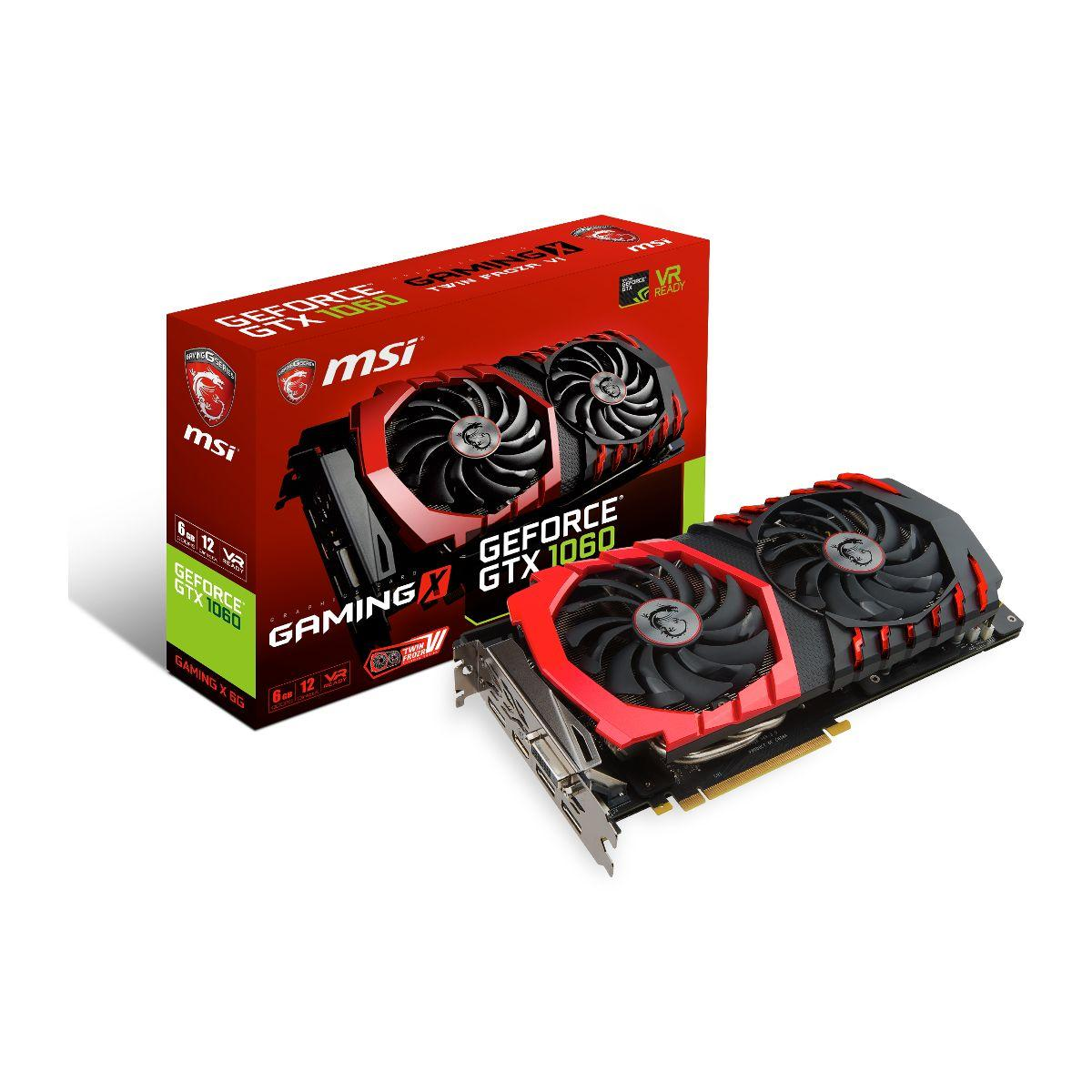 Carte graphique nvidia msi geforce gtx 1060 gaming x 6g - 2% d...