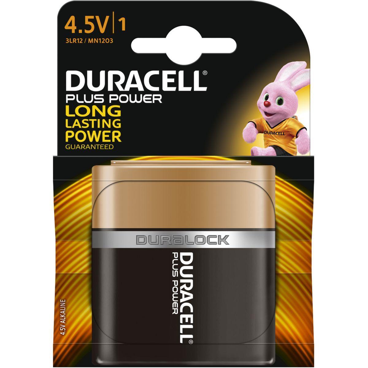 Pile non rechargeable duracell 4,5 volts x1 plus power (photo)
