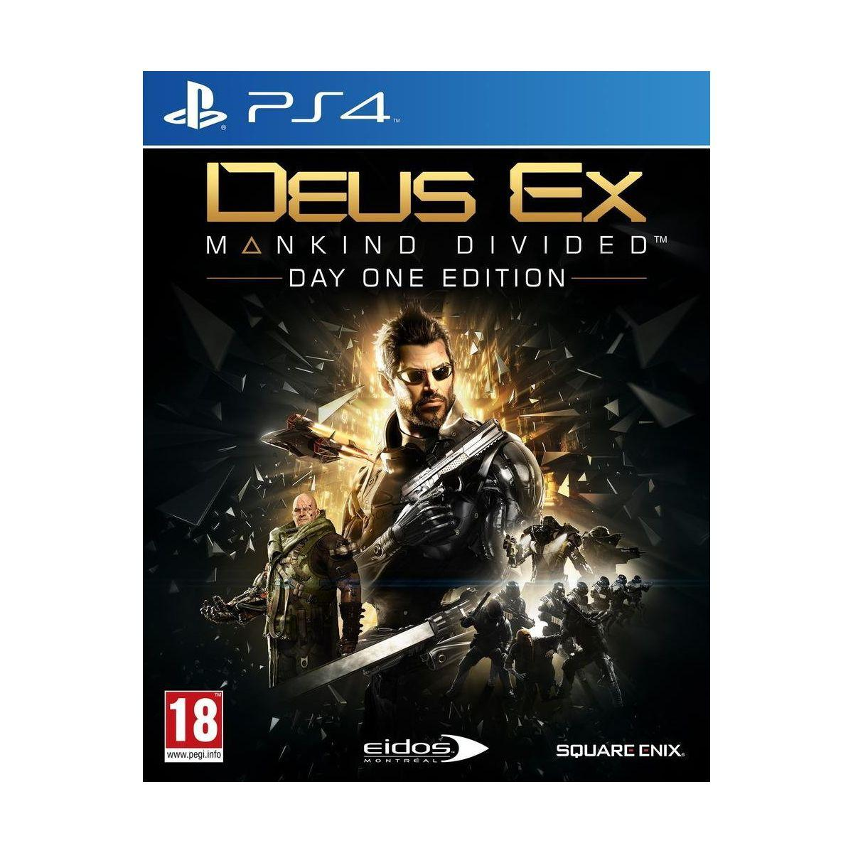 Jeu ps4 koch media deus ex mankind divided - day one edition - 2% de remise immédiate avec le code : cool2 (photo)