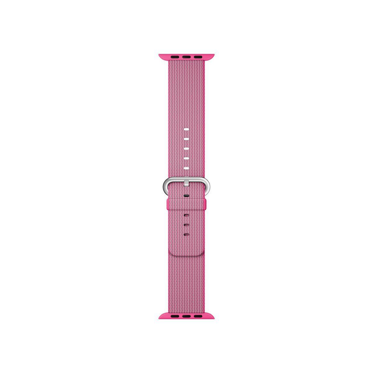 Bracelet apple watch nylon tissé rose 42mm - soldes et bons plans