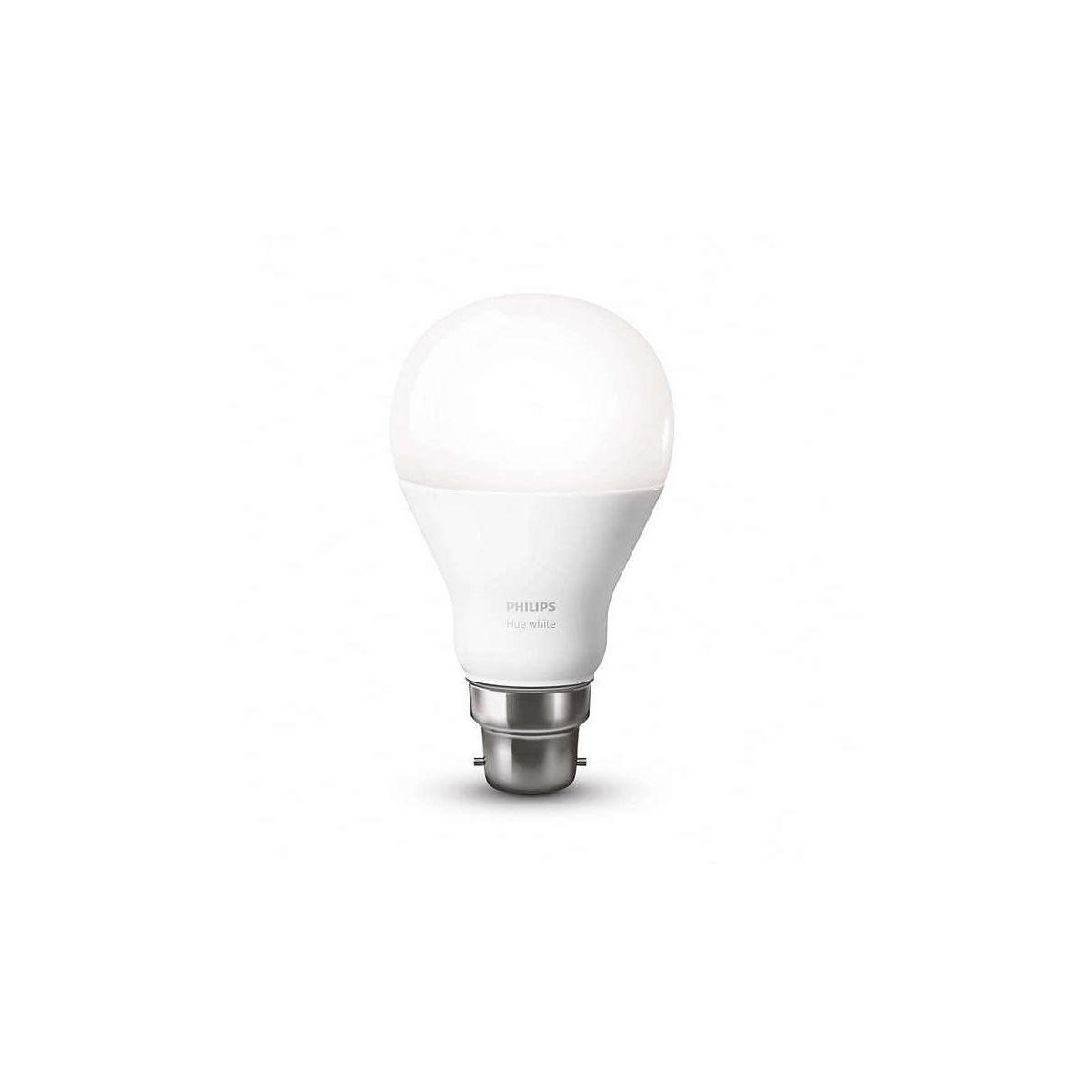 Ampoule connectable philips b22 hue white - 2% de remise imm�diate avec le code : school2 (photo)