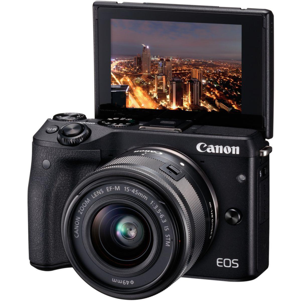 Apn canon eos m3 noir + ef-m 15-45 is st (photo)
