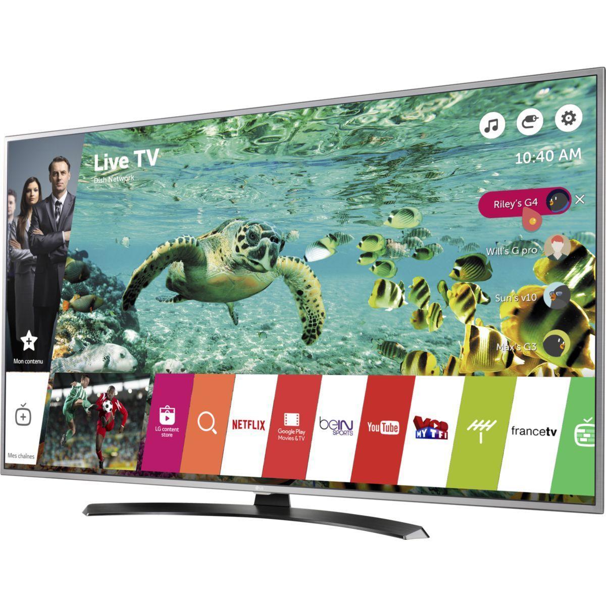 Pack promo tv lg 55uh668v 4k 1700 pmi smart tv + barre de son lg las550h - livraison offerte avec le code nouveaute