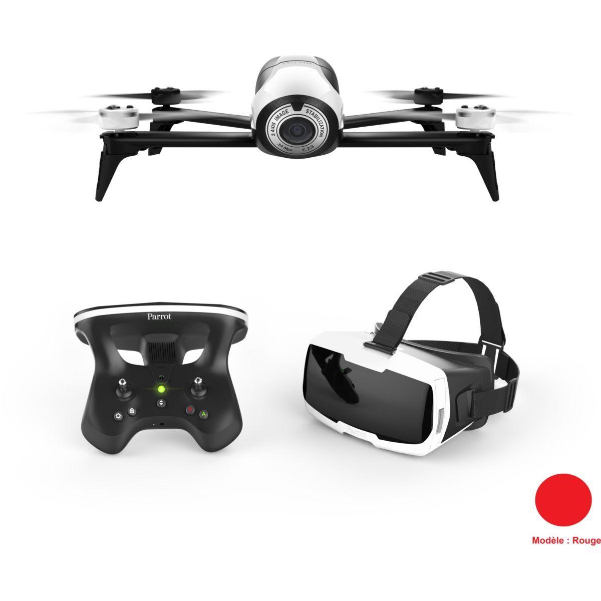 Drone parrot bebop 2 rouge + pack fpv - livraison offerte : code livpremium (photo)